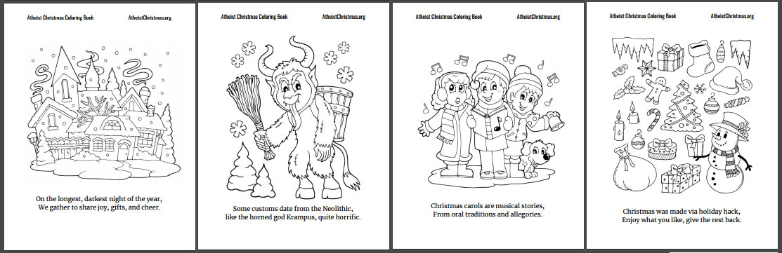 peek at the pages inside the book christmas for atheists